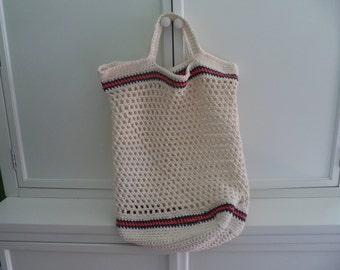 Beach Bag Tote, Beach Bag, Summer Tote Bag, Crochet Beach Bag, Kids Beach Bag, Kids Beach Tote, Cotton Bag, Crochet Bag,