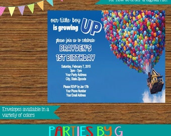 Up Birthday Party Invitations Invites Personalized Custom
