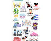 Disney Parks Achievement Stickers - Disney Planner Stickers