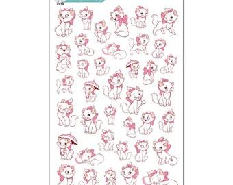 Marie Aristocats Stickers - Disney Planner Stickers