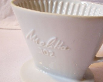 60s Melitta Coffee filters / Porcelain + Enamel / Good condition