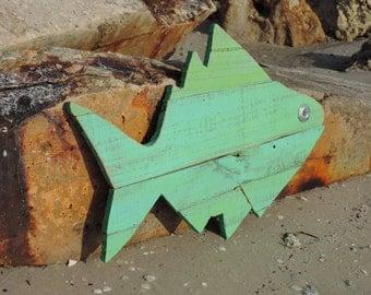 Wooden fish, fish art, ocean art, coastal decor