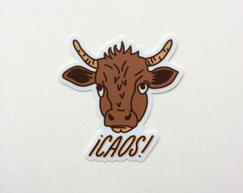 Caos Cow Sticker