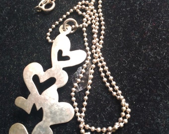 M8co 925 sterling silver necklace with heart pendant