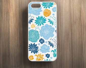Blue Foral iPhone 6 Case iPhone 6s Case iPhone 6 Plus Case iPhone 6s Plus Case Pattern iPhone 5s Case iPhone 5 Case iPhone 5c Case