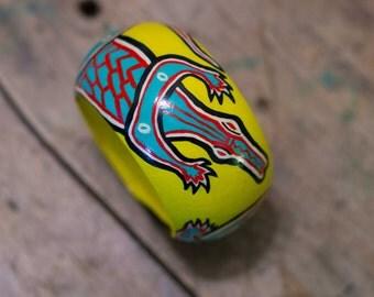 Hand painting bangle