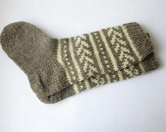 Men's Wool Socks, Handmade Socks, Woolen Socks, Women's Socks, Wool Slippers, Knitted Socks, Made to order