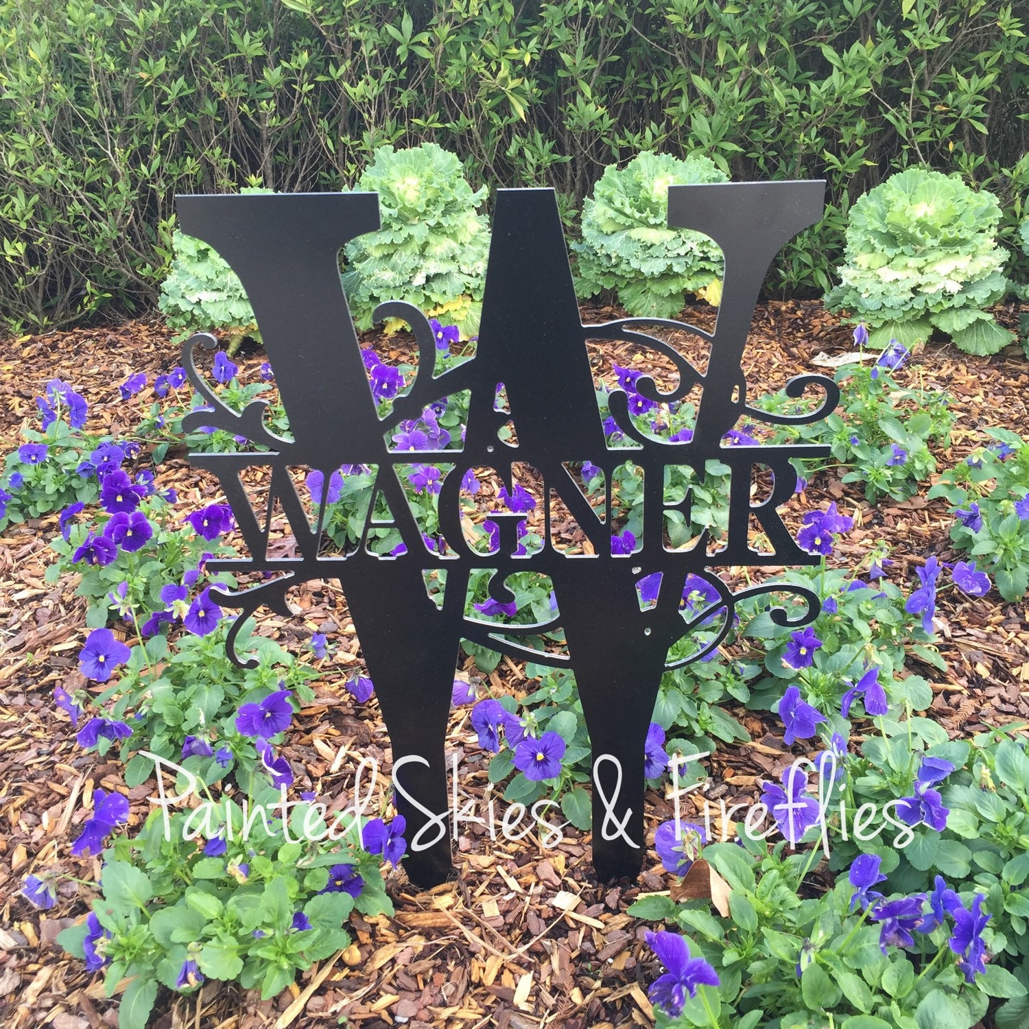 Outdoors And Gardening: Garden Sign / Lawn Ornament / Welcome Sign / Outdoor Garden