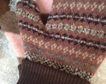 Hand-felted Wool Mittens