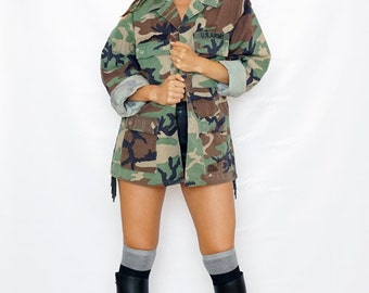Mercedes Benz Camouflage Camo Woodland Army Jacket Small, Medium, Large