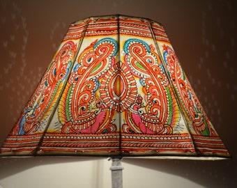 Bird Floor Lamp shade /  Leather Lampshade / Floor Lampshade / Large Lamp Shade / Bedside Lamp