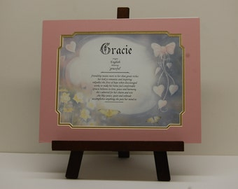Pastel Hearts and bows with name origin and meaning,