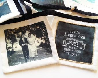 VALENTINE PHOTO BUNTING. Photo banner. Memory Wedding Photo Bunting. Photo Banner.