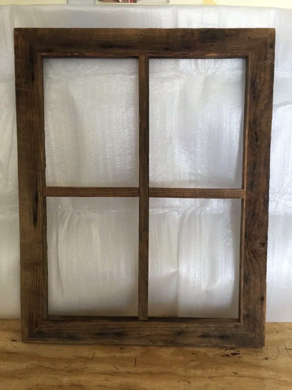 Rustic Window Frame Decor