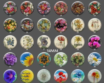 Handmade Photo glass Cabochons,8mm -58mm size, 764