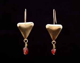 VANESSA earrings : modern bronze earrings