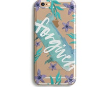H139 Forgiven BLOOM Collection - TPU Clear Transparent Phone Case for iPhone 5/5s iPhone 5c iPhone 6 iPhone 6plus Galaxy S4 Galaxy S5