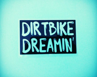 Dirtbike Iron On Transfer- DIY Motocross Clothes - Dirtbike Dreamin'