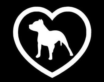 Heart pit bull sticker