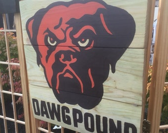 """Cleveland Browns """"Dawg Pound"""" Wall Sign"""