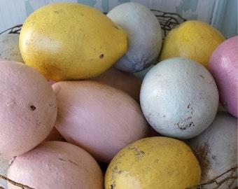 folk art Easter egg gourds