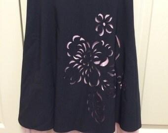 Black and Pink Crinoline Skirt, size 0