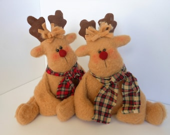 Floppy Reindeer Doll Holiday Decor