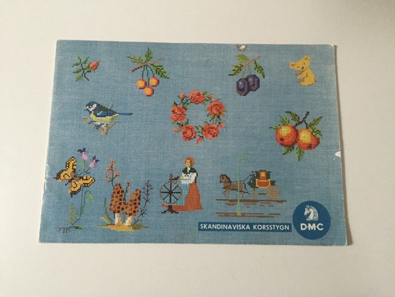 Vintage swedish embroidery book monogram embroider