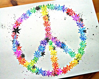 Peace flower painting