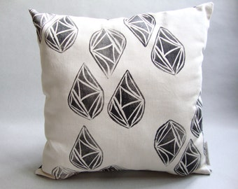 Hand Stamped Decorative Throw Pillow