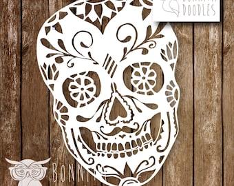 Sugar Skull Papercut template Personal