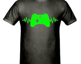 Pulse gaming controller t shirt,men,s t shirt sizes small- 2xl, gift,gaming t shirt