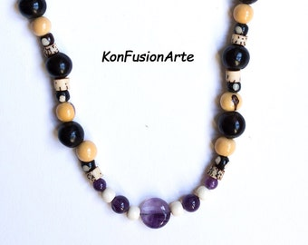 Necklace Forest Seeds and Amethyst