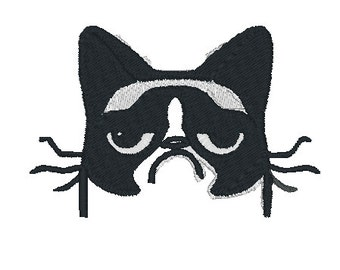 Grumpy Cat Embroidery Design