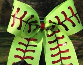 Softball Bow//Fastpitch Bow//Sport Bow//Softball//Fastpitch//Team Bow