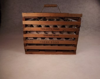 Twin Brook Farms wood egg container