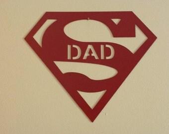 Super Dad Metal Wall Art
