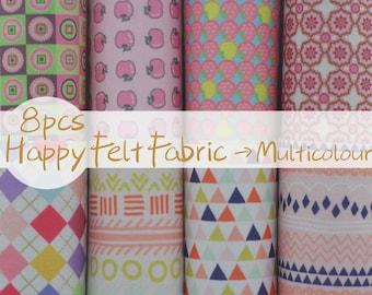 Items similar to printed felt fabric group polka dot for Polka dot felt fabric