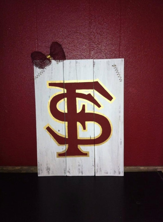 Florida State Sign Fsu Sign Seminole Decor By
