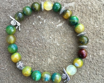 Green/Yellow Agate Bracelet