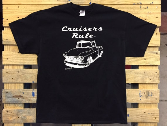 Cruisers rule 1957 chevrolet stepside truck by gcenterprise for T shirt printing peoria az