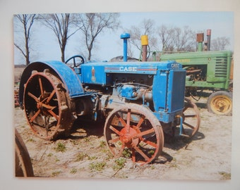 Wooden Jigsaw Puzzle. Old Tractors