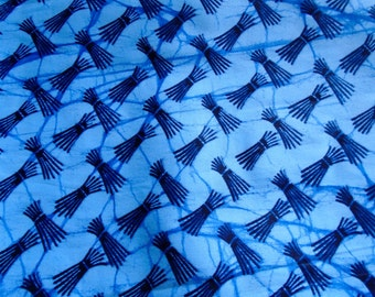 Indigo Blue Colored African Wax Print, Ghana Africa, HITARGET