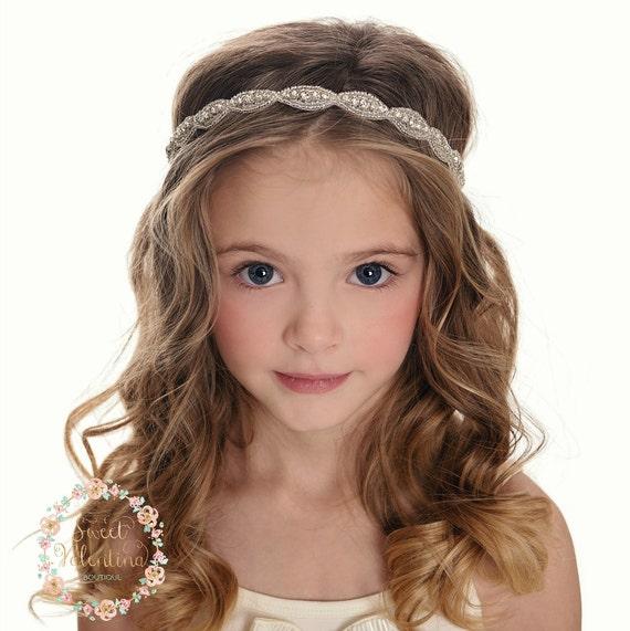 Wedding Headband Hairstyles: Rhinestone Bridal Headband Wedding Headband Flower Girl
