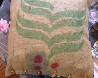 Hessian Coffee Sack Cushion