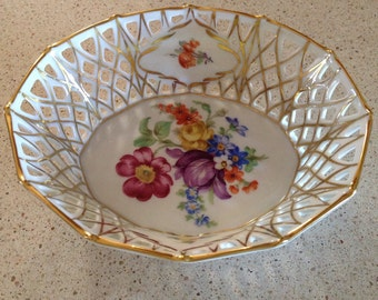 Schumann Germany Small Reticulated Bowl