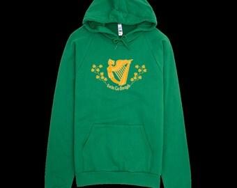 St. Patrick's Day Hoodie - Erin Go Bragh - Ireland Forever - Irish Hoodie