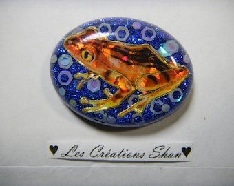 Frog in the resin magnet