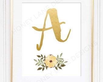 POSTER PRINT, Monogram Print, Monogram Poster, Made to Order, a4, a3, a2 - PR32