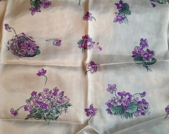 French violet scarf